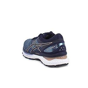 ASICS Women's Gel-Nimbus 22 Running Shoes, 8M, Grey Floss/Peacoat