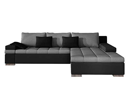 Design Ecksofa Bangkok, Moderne Eckcouch mit Schlaffunktion Bettkasten Ecksofa für Wohnzimmer Gästezimmer Couch L-Form Wohnlandschaft (Ecksofa Rechts, Soft 011 + Casablanca 2314 + Casablanca 2316)