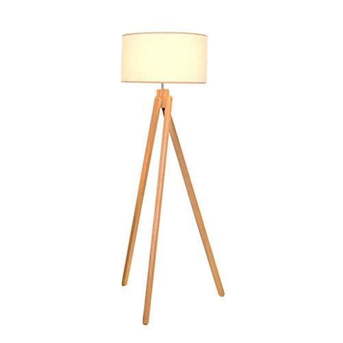 LILISHANGPU Lil Arte Scandinavische Terra lamp bedlampje eenvoudige vloerlamp wandlamp verticaal massief hout met 3 voeten E27