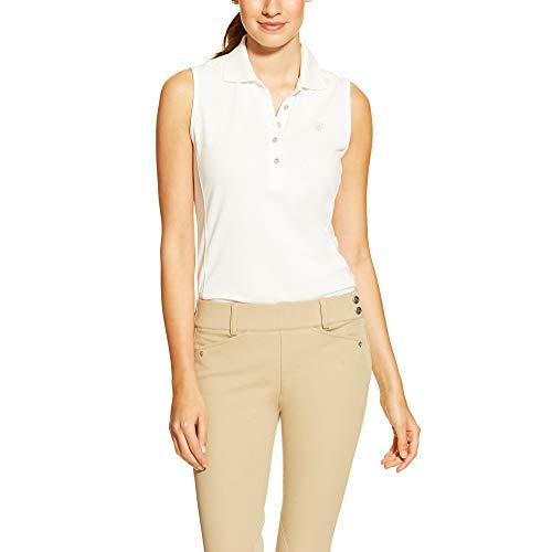 ARIAT Women's Prix Sleeveless Polo Shirt, White, Large