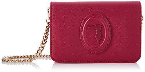 Trussardi Jeans Bag, Clutch 1 juego de sabores Safiano para Mujer, NR