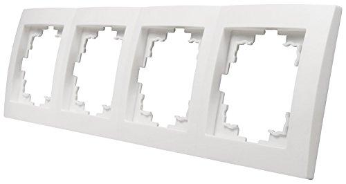 MC POWER - 4-fach Rahmen | FLAIR | weiß, matt