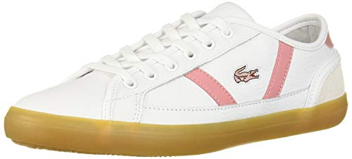 Lacoste Women's Sideline Shoe, White/Pink, 5.5 Medium US
