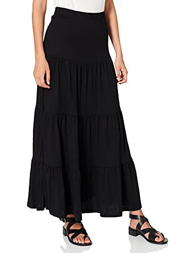 Only ONLMAY Life Maxi Skirt JRS Falda, Negro, M para Mujer