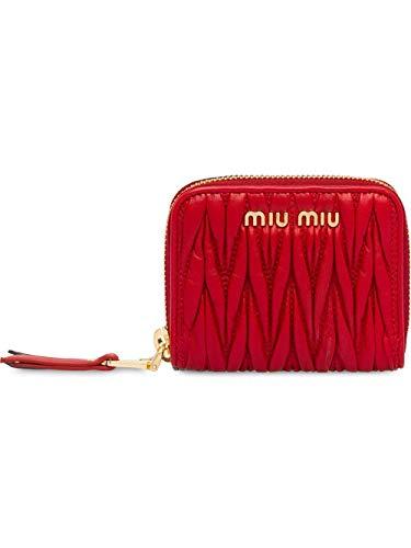 Miu Miu Luxury Fashion Damen 5MM268N88F068Z Rot Leder Brieftaschen | Frühling Sommer 20