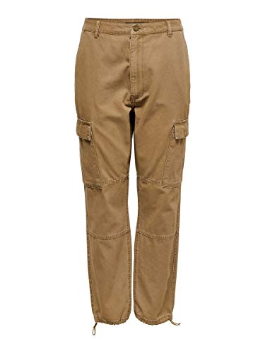 ONLY Damen Cargohose Regular 3832Tobacco Brown