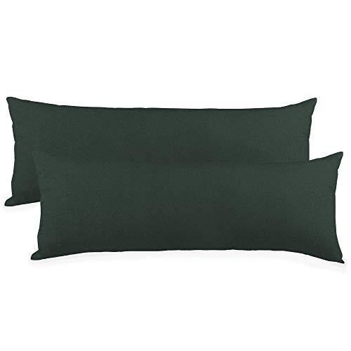 CelinaTex BeBasic Kissenbezug Doppelpack XXL 40 x 200 cm anthrazit grau Mikrofaser Seitenschläferkissen Bezug Jersey