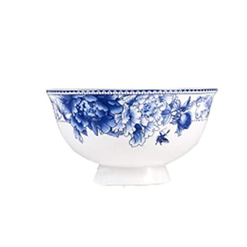 WENHAO LJW Bowl Ceramic Bowl Bowl,Kreatywny Anty-Hot Bowl Rice Bowl Bone Chiny Bowl Niebieski I Biały Porcelanowy Miska Vintage Stołowiec 11.5 * 6 * 1 cm (Kolor:13 * 7 * 1 cm)|Kod towaru:LJW-1373