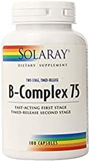 Solaray B Complex Two Stage Time Released Supplement, 75mg, 100 Count by Solaray