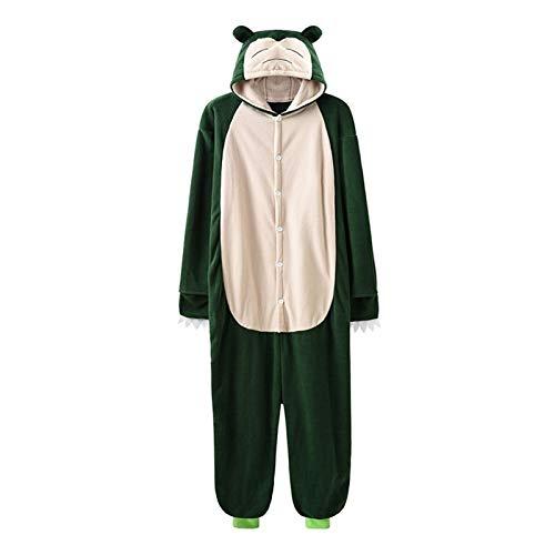7MR Pijama Adulto Unisex Pareja de Anime Traje de Dibujos Animados con Hombre Adulto Mujer Pareja Pijamas Lindo Gracioso con Capucha velln con Capucha (Color : Snorlax Onesie, Size : Large)