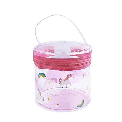 Transparent Sac Cosmétique PVC Seau Étanche Sac Portable Femme Wash Portable Voyage Rangement Extérieur Multifonctionnel (Color : Color two)