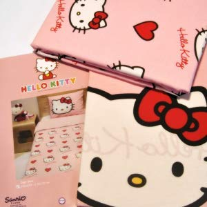 BEBESHOGAR Juego DE SABANAS Hello Kitty Matrimonio Franela