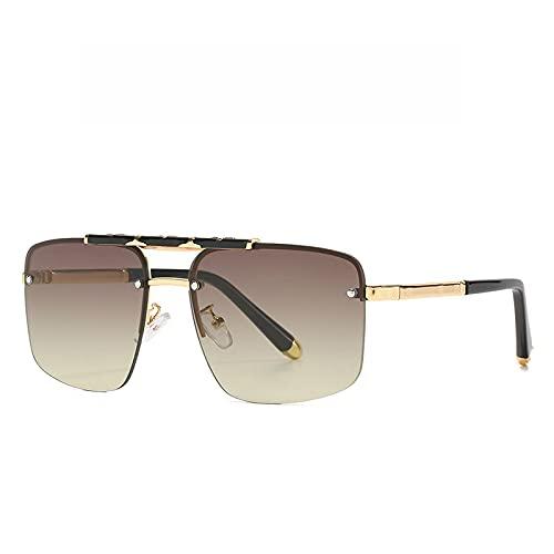 SLIYFJKQLX Gafas De Sol Retro Modernas Gafas De Sol De Hombre Sin Montura Gafas De Sol con Montura Cuadrada De Moda