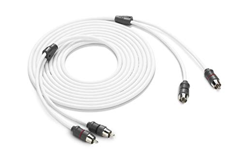 JL Audio XMD-WHTAIC2-12 12 ft (3.66 m) 2-Channel Marine RCA Audio Interconnect Cable