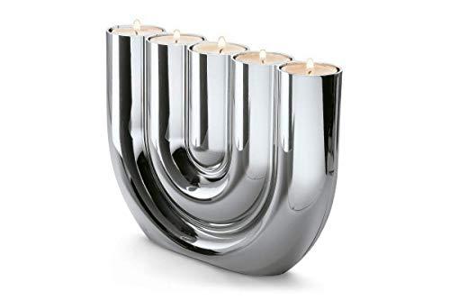 Philippi - Double U - Kerzen- oder Teelichthalter für 5 Kerzen - Zeitloser Designklassiker