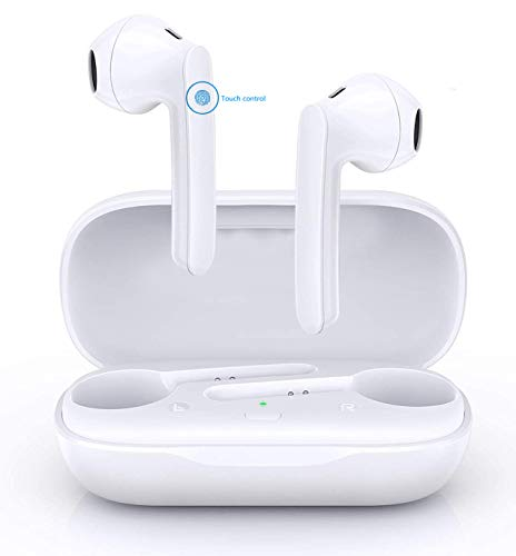 Bluetooth Kopfhörer, Bluetooth 5.0 Headset Noise Cancelling Ohrhörer mit Mikrofon und Tragbare Ladehülle, In Ear Kabellos Kopfhörer TWS kompatibel mit Apple Airpod pro/Airpods/Android/iPhone/Samsung