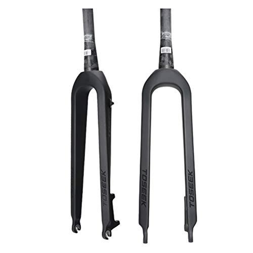 Horquillas Rígidas para Bicicleta MTB Ultraligero Fibra de Carbono Mountain Bike Horquilla de Suspensión (Color : E, Size : 29 Inch)
