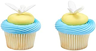 White Dove Cupcake Cake Picks - 24 pc