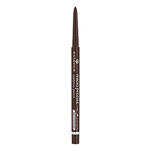 essence micro precise eyebrow pencil, Nr. 03 dark brown, braun, definierend, langanhaltend, natürlich, vegan, wasserfest, Mikroplastik Partikel frei (0,05g)