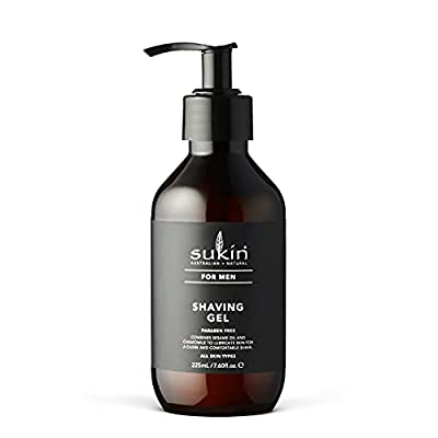 Sukin Men's Shaving Gel, 225 ml