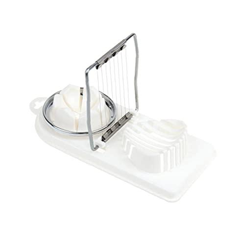 Ei Slicer, Plastic Egg Slicer Pilz Slicer 2-in-1 gekochter Eierschneider Multifunktionaler Eierhacker mit Edelstahldraht