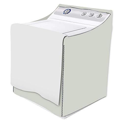 Protector para lavadora y secadora, cubierta impermeable para lavadora con cremallera para máquina de carga frontal y máquina seca (marrón amarillo, W29D28H40in)