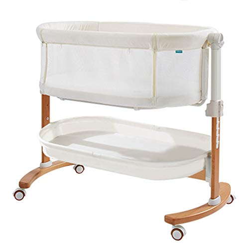 Check Out This Rocking Chair Travel Cot for Baby Kids with Swing Function Dual-use Newborn Movable B...