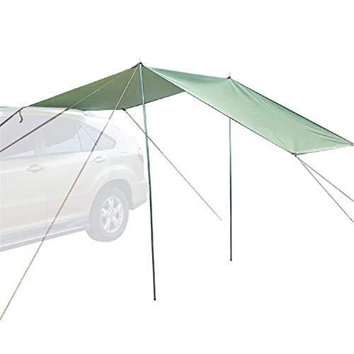 CXJC Toldo de coche para acampar al aire libre, familia, ligero, impermeable, lona Oxford, toldo lateral para automóvil, para SUV, Hatchback Minivan, sedán, camping al aire libre