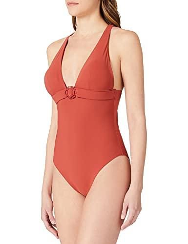 Emporio Armani Swimwear Halter Swimsuit Terre De Soleil Tuta da Nuoto One Piece, Terracotta, M Donna