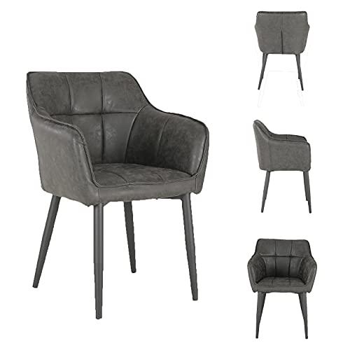 MeillAcc sofá nórdico de Ocio pequeño Individual con reposabrazos, Piel sintética, para salón, Dormitorio, balcón