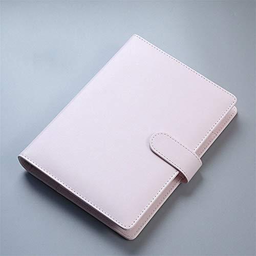 King Boutiques Cuero de PU A5 A6 Cuaderno Diario Agenda Planificador Diario Carpeta de Hojas Sueltas Cute School Supplies (Color : PK, tamaño : A6)