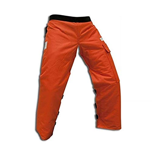 Forester Chainsaw Apron Chaps with Pocket, Orange 37 Length...