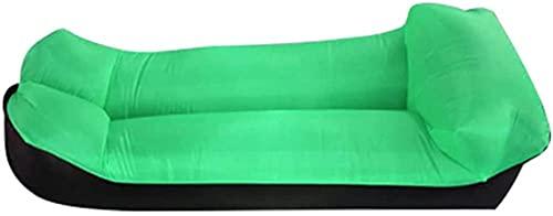 KLJLFJK, cámping Sofá Inflable,Sillón Durable Inflable Impermeable y a Prueba de Fugas,2021 actualizado Silla Inflable,Una Cama Inflable Adecuada para Acampar, Playa y Fiesta-Verde