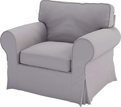 Solo copertine! Il divano non è incluso! La sostituzione fitta copertura cotone Ektorp Chair è su misura per IKEA Ektorp Poltrona Copertina, A One sedia di ricambio Fodera Divano Pesante cotone grigio