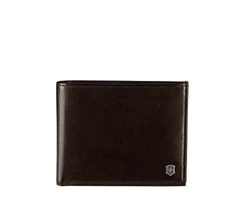 Victorinox Altius 3.0 Edge Zenon - Herren Brieftasche Portemonnaie Geldbeutel Männer Leder RFID - Dunkelbraun