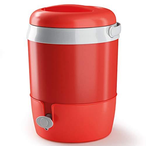 #11 Wasserspender 6L mit Zapfhahn und Ständer - Tragegriff - ROT - aus Kunststoff Plastik - Getränkespender Wasserbehälter Wasserkanister - Thermobehälter Kühlbehälter für Camping Garten Büro Draußen