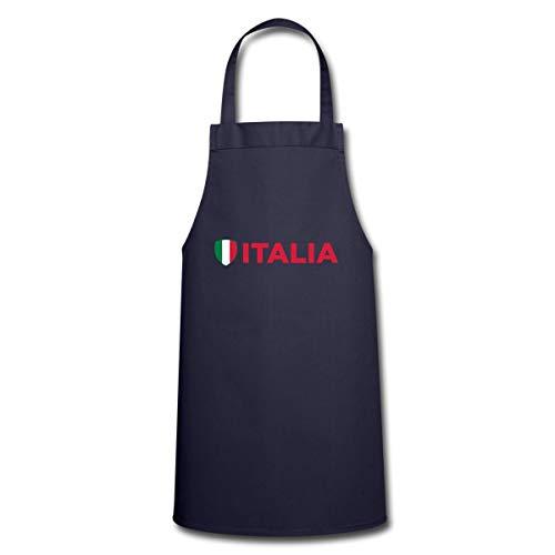 Spreadshirt Italien Flagge Kochschürze, Navy