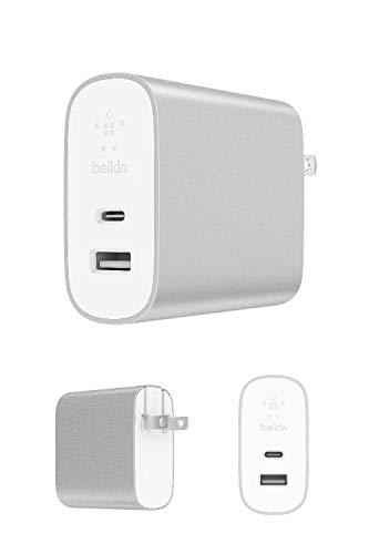 【Amazon.co.jp 限定】ベルキン USB充電器 iPhone/iPad/Androidスマホ各種対応 USB-C 27W / USB-A 12W 急速充電 BOOST CHARGE F7U061DQ-SLV-A