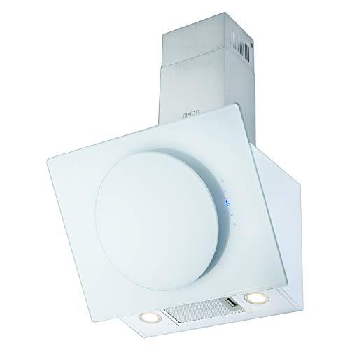 NEG Dunstabzugshaube KF106-ATW (Umluft/Abluft) weiß 60cm kopffrei mit LED-Beleuchtung, Randabsaugung, Glas-Front, 3 Motorstufen (max. 800m³/h), sehr leise