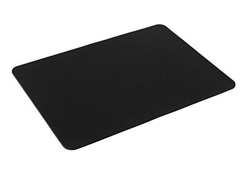 Silent Monsters Alfombrilla ratón Ordenador tamaño S (44 x 35 cm), Color Negro, Adecuado para ratón Ordenador de Oficina y para Gaming