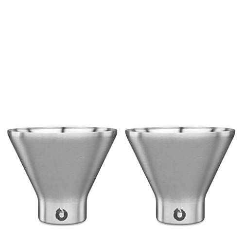 Snowfox Insulated Stainless Steel Margarita and Martini Cocktail Glass, Set of 2