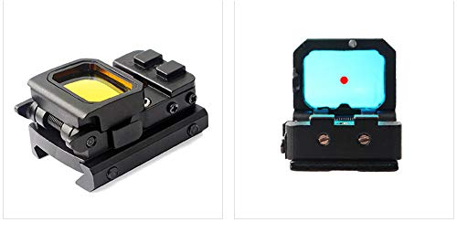 AKFIRE Red Dot Compact Flip Reflex Sight for Mounts and Slides (Black)