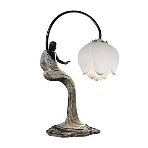 HYY-YY Lámparas de mesa, moderna minimalista dormitorio lámpara de cabecera, lámparas de la sala retro, Sala de estar Estudio de la lámpara, lámparas de escritorio, los niños que trabajan Rines decora