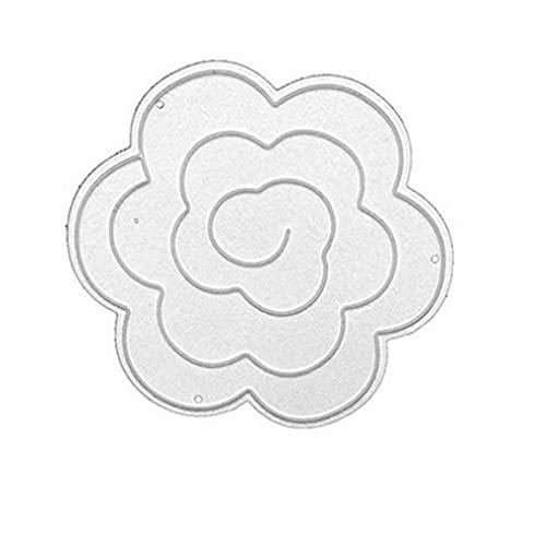 CandyT Molde de Cuchillo de Moda de Acero al Carbono DIY para Molde de Cuchillo de Grabado en Relieve para niños Forma de Flor de Creatividad DIY (Blanco 5,7 * 5,7 cm)