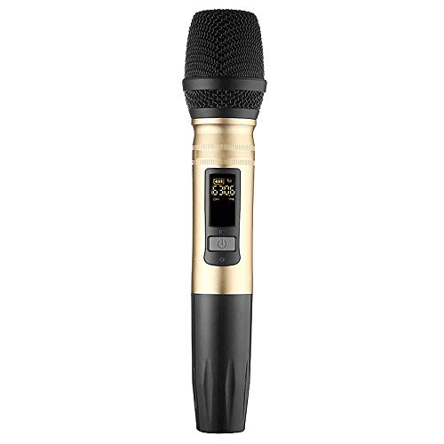 BOINN Ux2 Uhf Sistema De Microfono Inalambrico Microfono Led De Mano Altavoz Uhf Con Receptor Usb Portatil Para Ktv Dj Grabacion De Amplificador De Voz