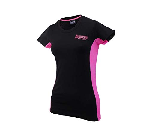 BOXEUR DES RUES Serie Fight Activewear T-Shirt Femme, Noir, FR (Taille Fabricant : XL)