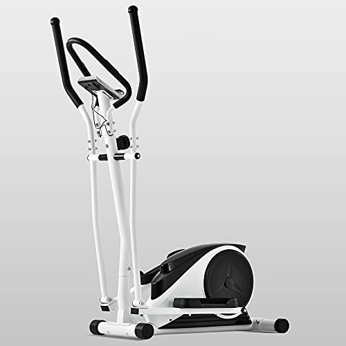 QWEPOI Bicicleta elíptica de 120 kg para casa, entrenamiento elíptico con 8 resistencias, pantalla LCD, soporte para teléfono móvil