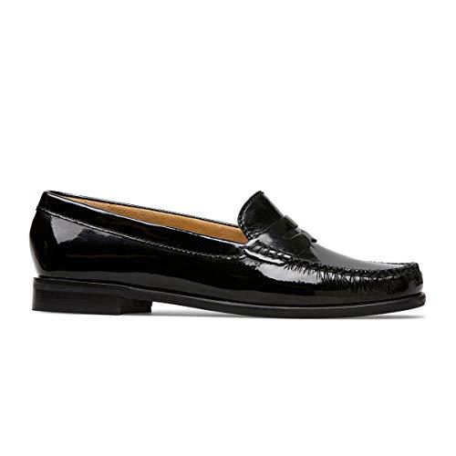 Van Dal Hampden Damen Slipper aus Leder, breit, Schwarz - schwarzer Lack - Größe: 38 EU