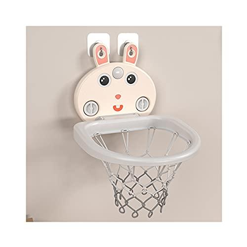 Tablero de Baloncesto Soporte de Baloncesto de Dibujos Animados para niños, Mini Caja de Tiro para bebés Interior, Juguete de Baloncesto de elevación de Pared