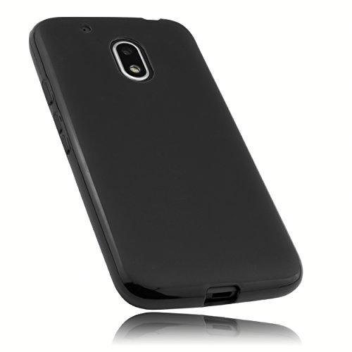 mumbi Hülle kompatibel mit Lenovo Moto G4 Play Handy Case Handyhülle, schwarz